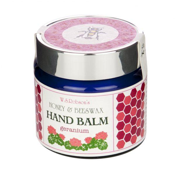 geranium hand balm side